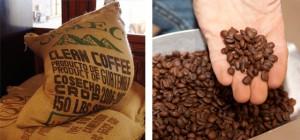 Kaffeetransport in Säcken
